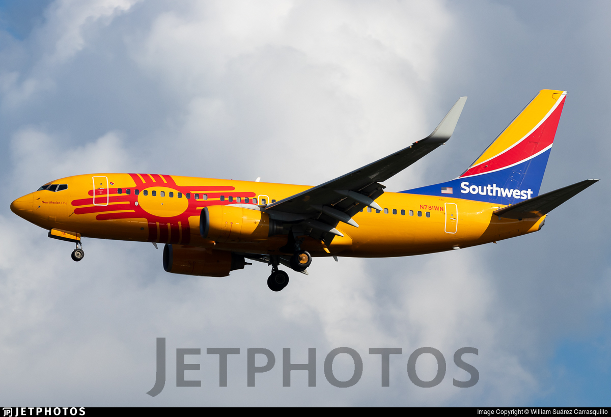 N781WN - Boeing 737-7H4 - Southwest Airlines