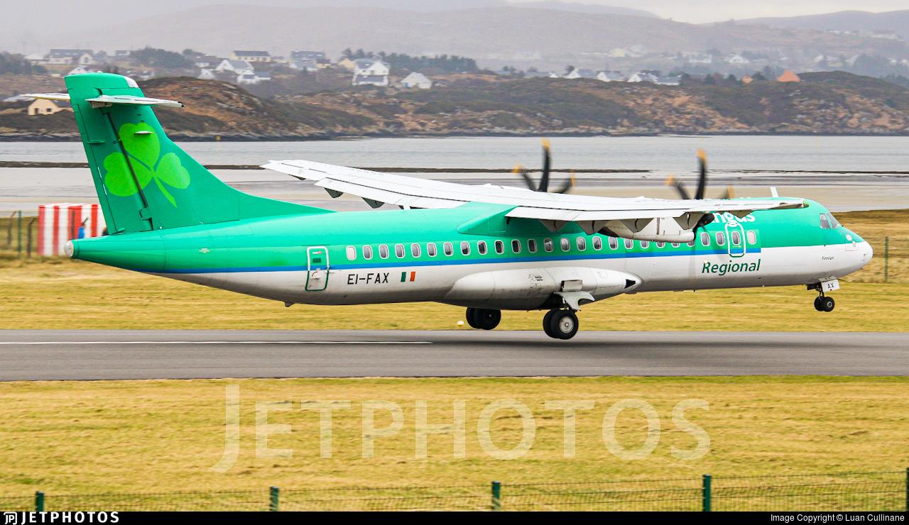 EI-FAX - ATR 72-212A(600) - Aer Lingus Regional (Stobart Air)