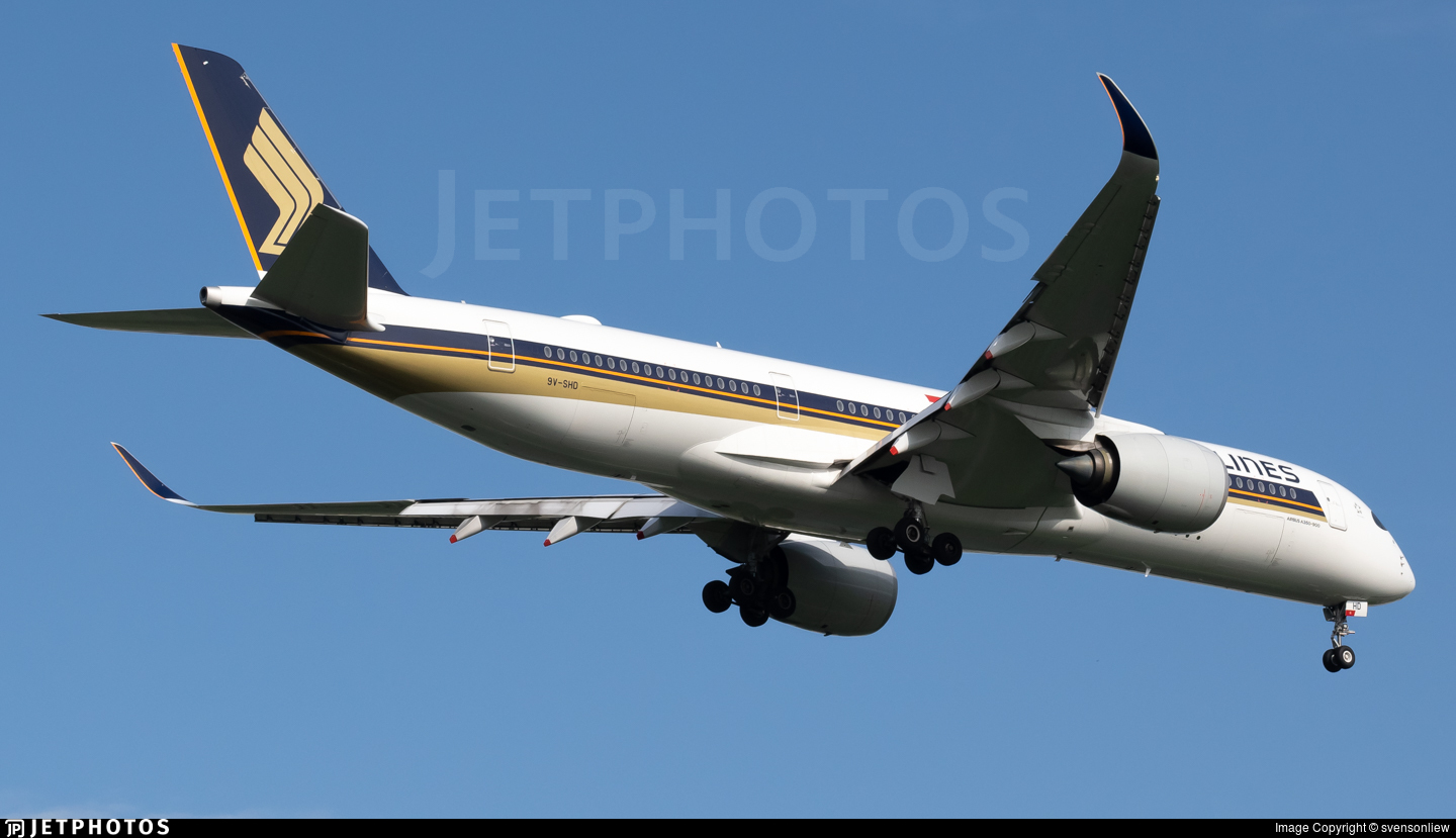 9V-SHD - Airbus A350-941 - Singapore Airlines