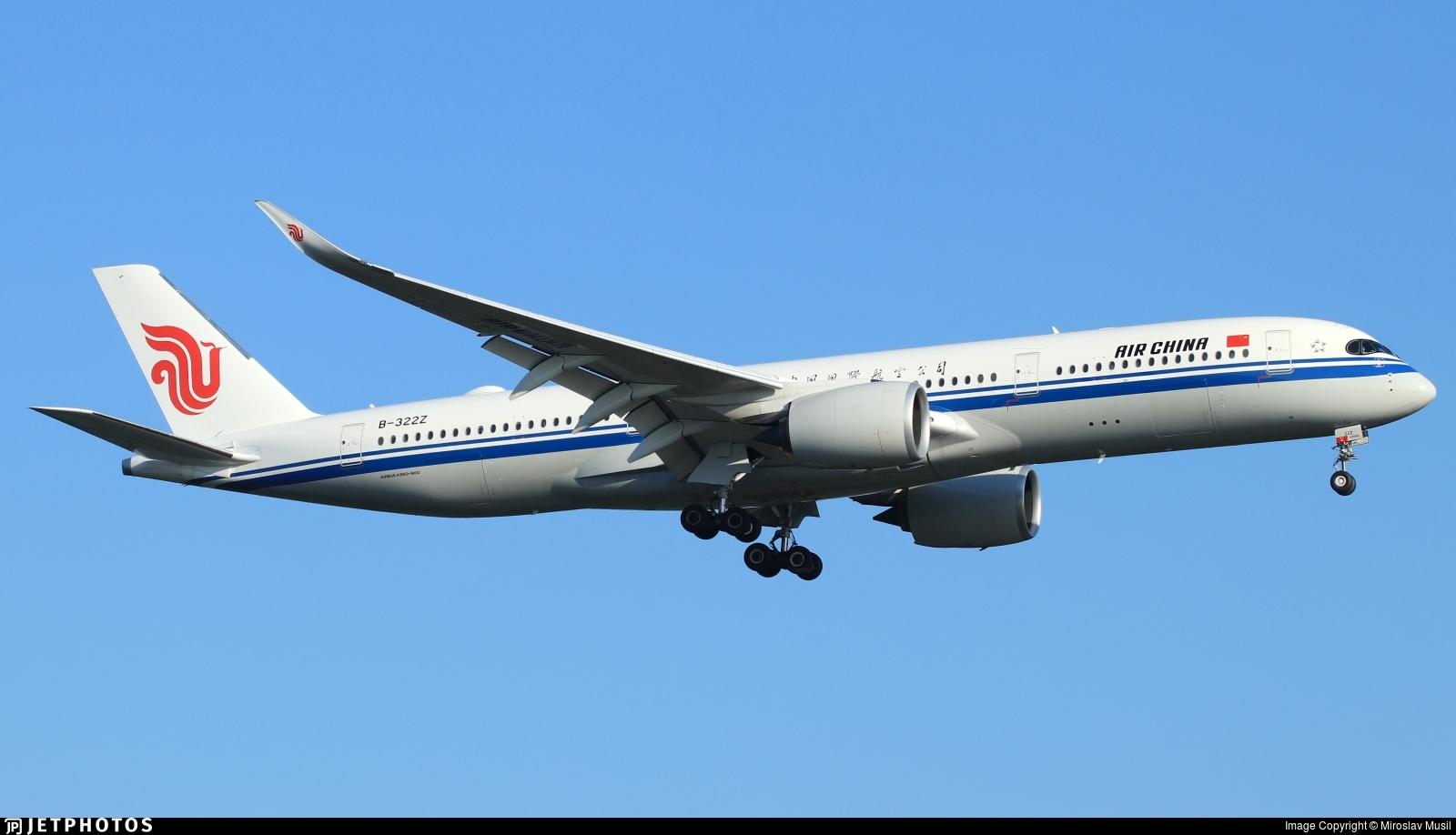B-322Z - Airbus A350-941 - Air China