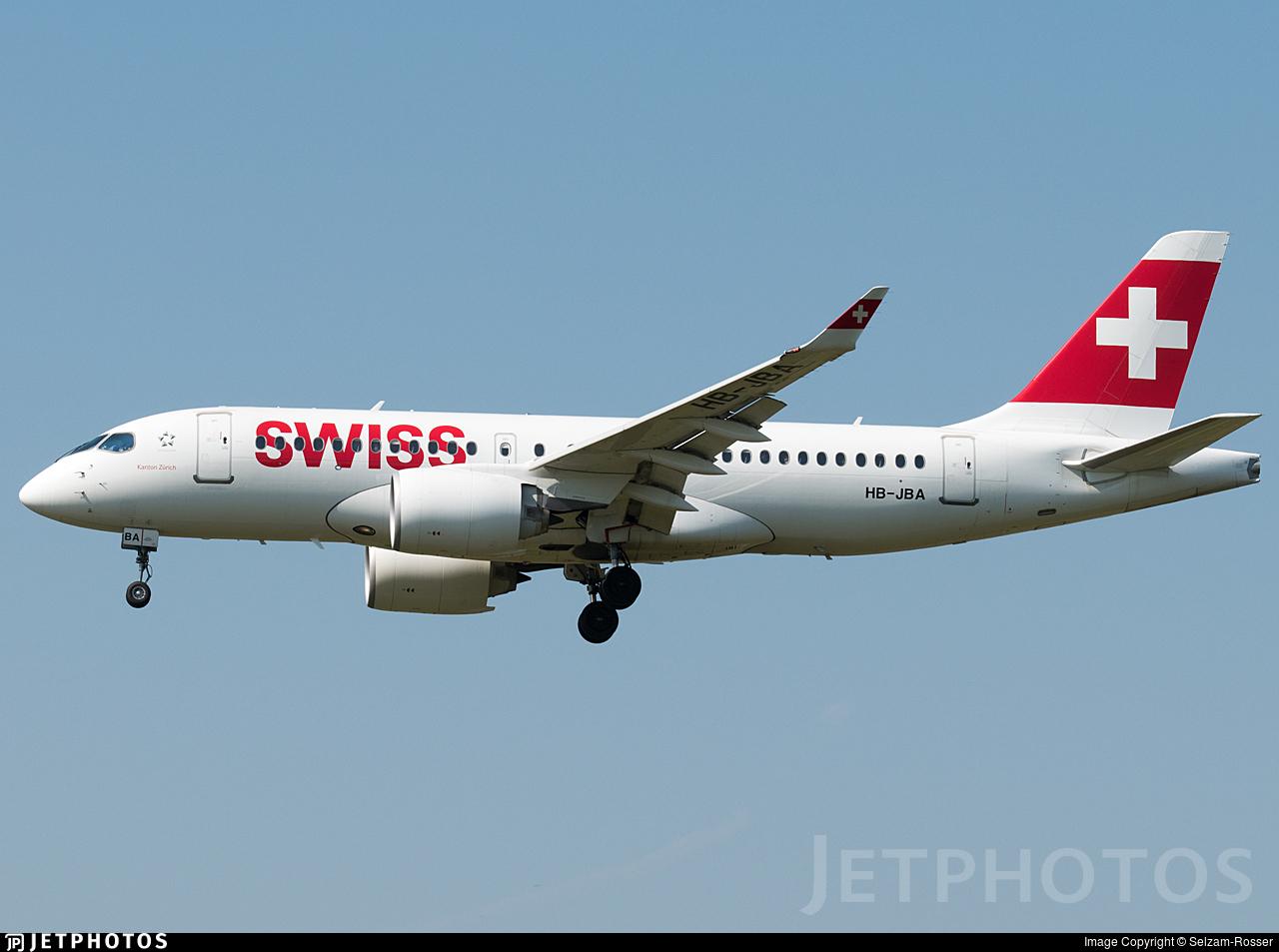 HB-JBA - Bombardier CSeries CS100  - Swiss