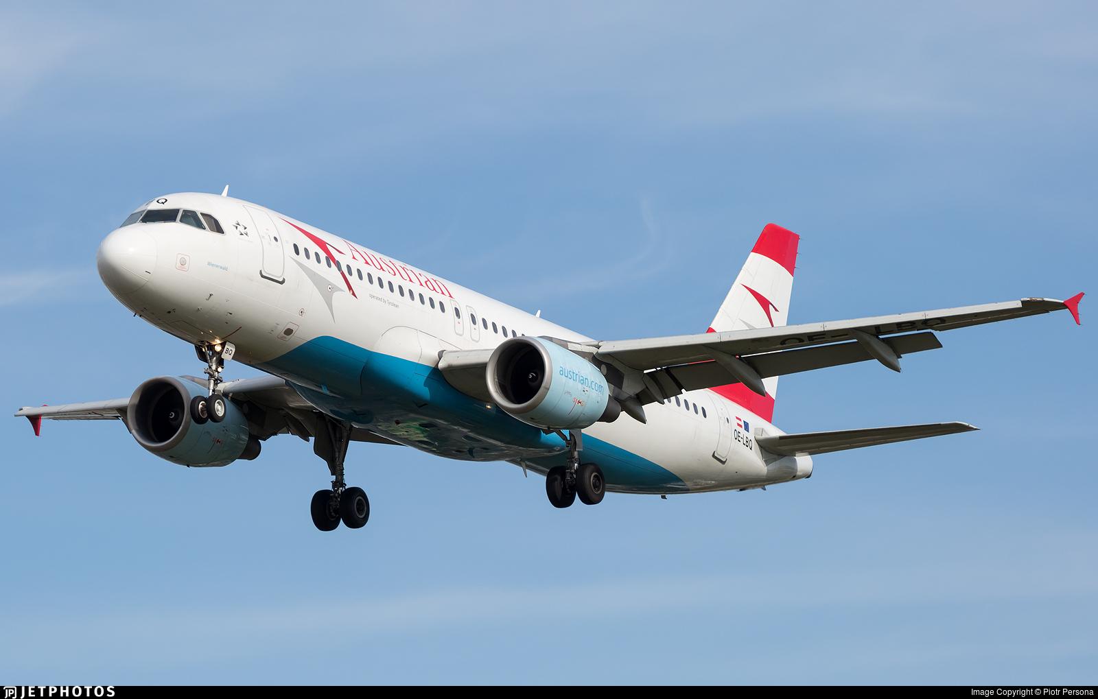 OE-LBQ - Airbus A320-214 - Austrian Airlines (Tyrolean Airways)