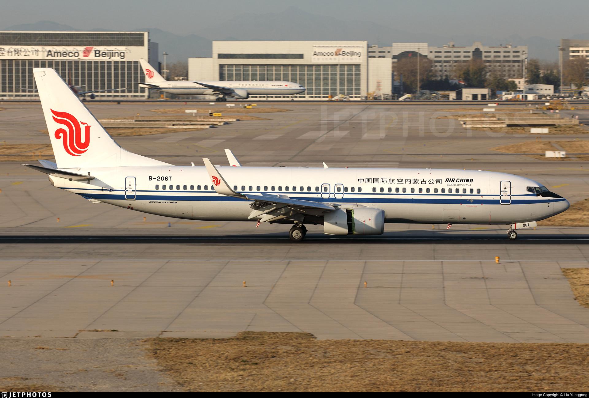 B-206T - Boeing 737-89L - Air China Inner Mongolia