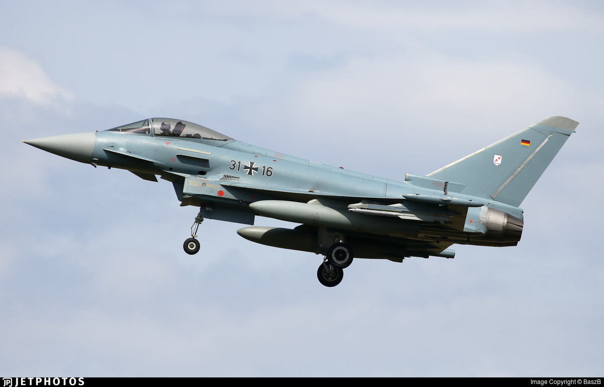 31-16 - Eurofighter Typhoon EF2000 - Germany - Air Force