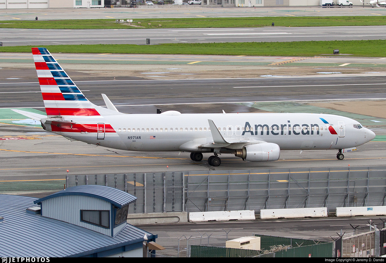 N971AN | Boeing 737-823 | American Airlines | Jeremy D