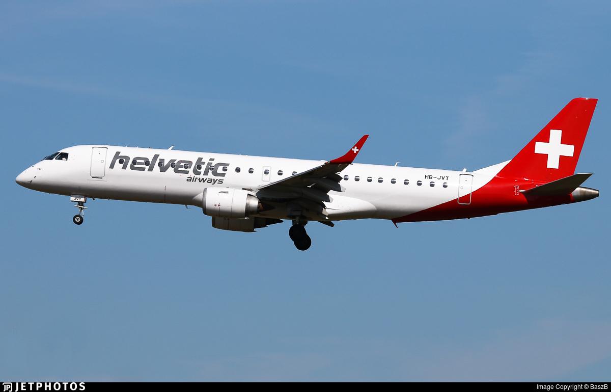 HB-JVT - Embraer 190-100LR - Helvetic Airways
