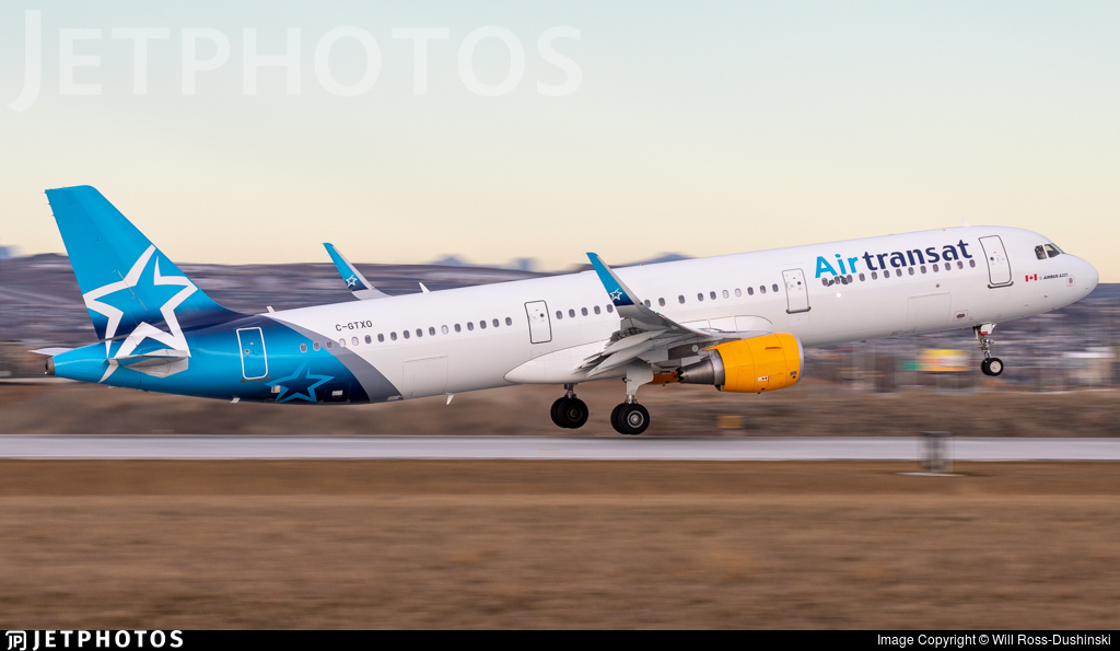 C Gtxo Airbus A321 211 Air Transat Will Ross Dushinski Jetphotos