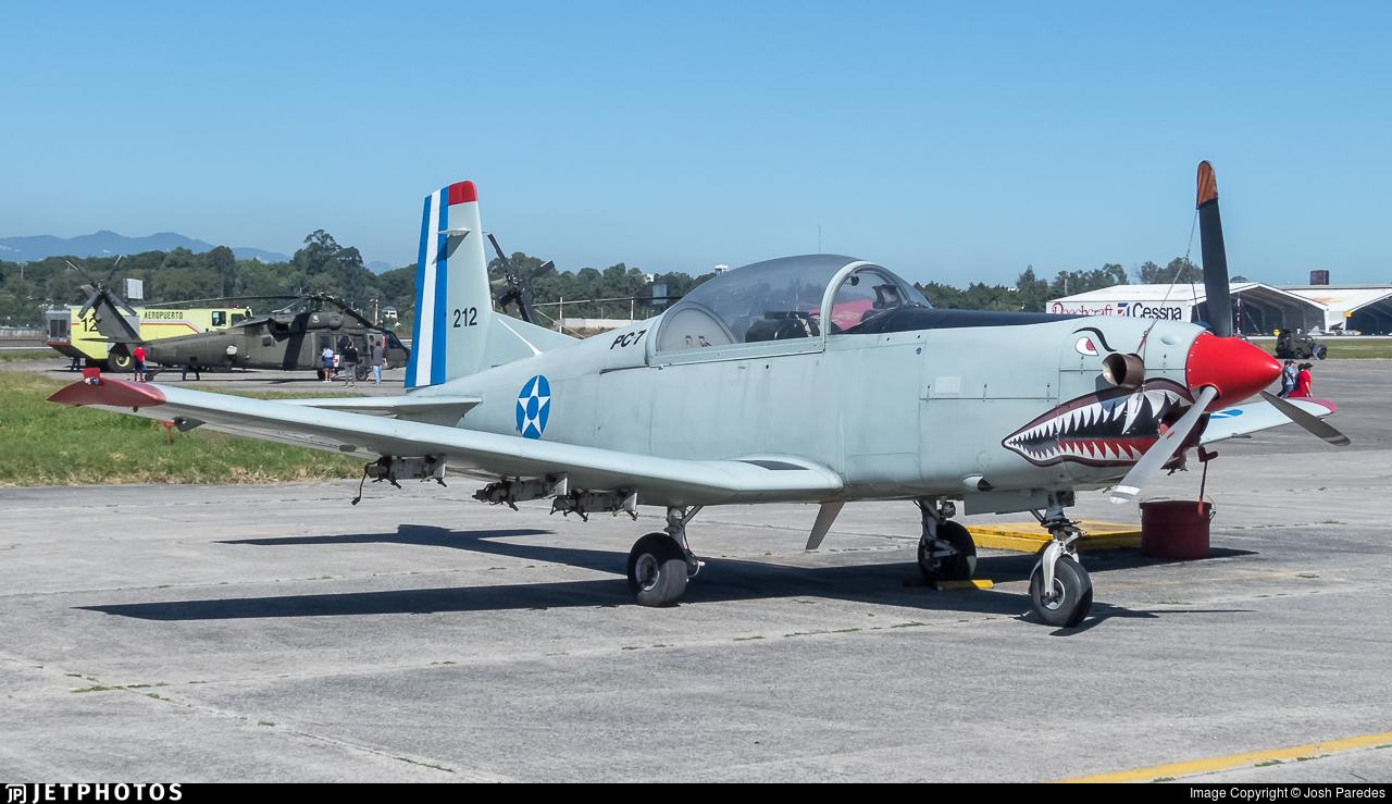 212 - Pilatus PC-7 - Guatemala - Air Force