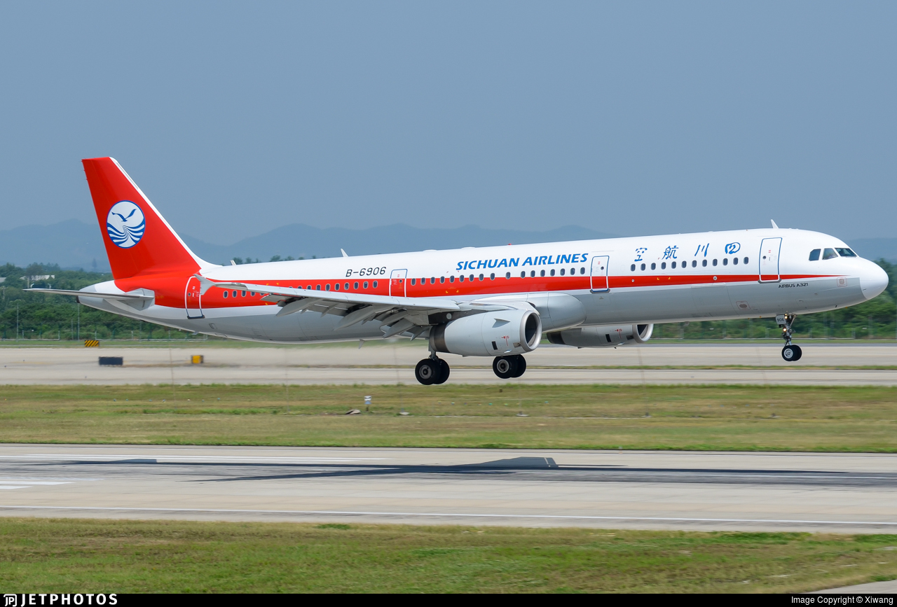 B-6906 - Airbus A321-231 - Sichuan Airlines