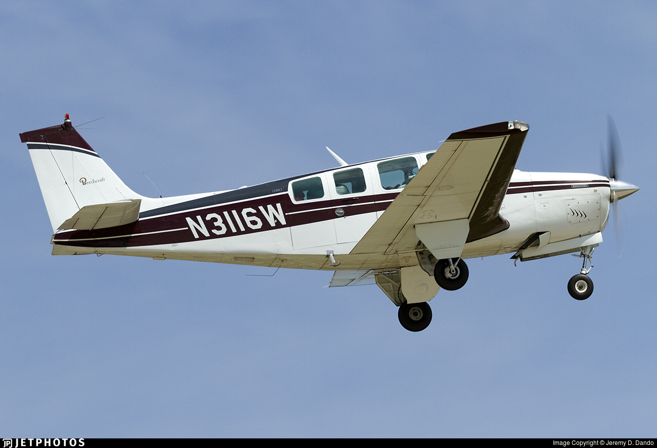 N3116W - Beech A36 Bonanza - Private