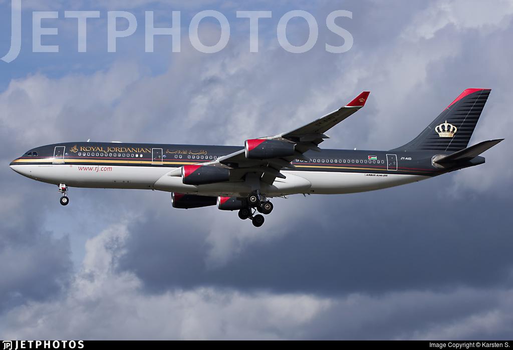 JY-AID - Airbus A340-212 - Royal Jordanian