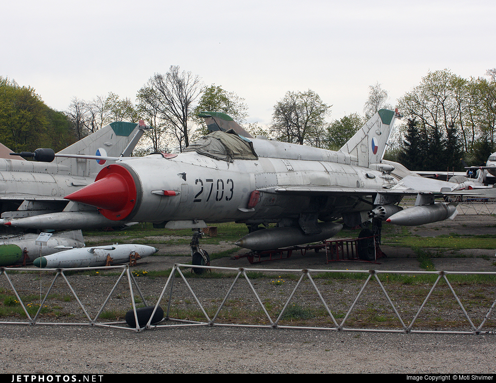 2703 - Mikoyan-Gurevich MiG-21M Fishbed - Czech Republic - Air Force