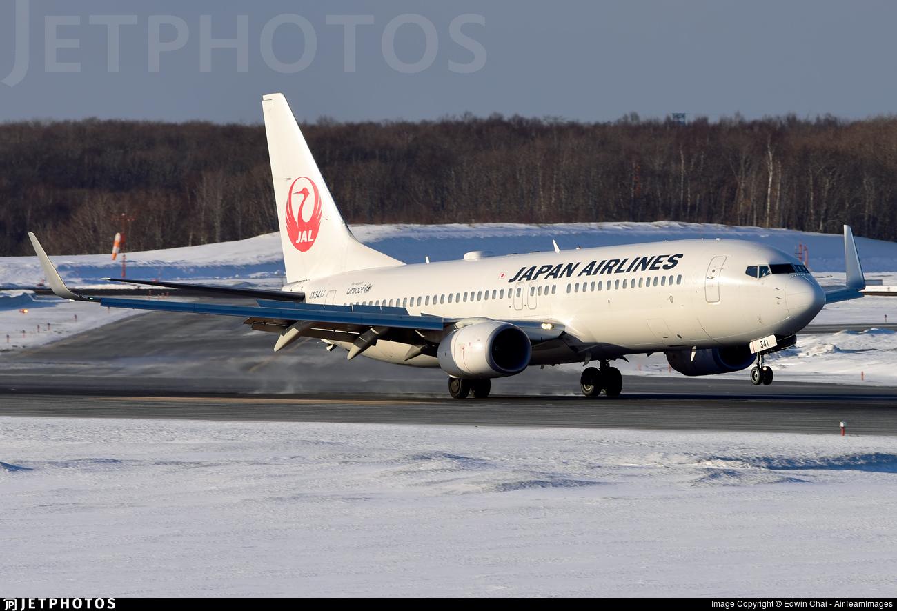 JA341J - Boeing 737-846 - Japan Airlines (JAL)