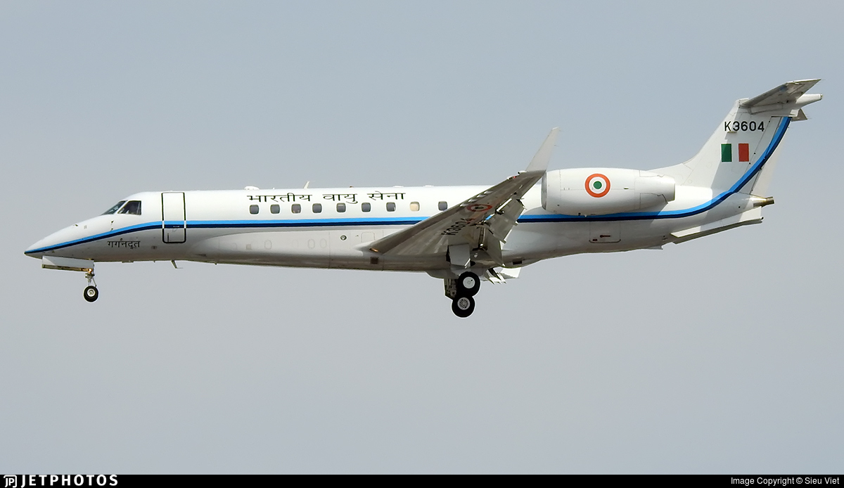 K3604 - Embraer ERJ-135BJ Legacy - India - Air Force
