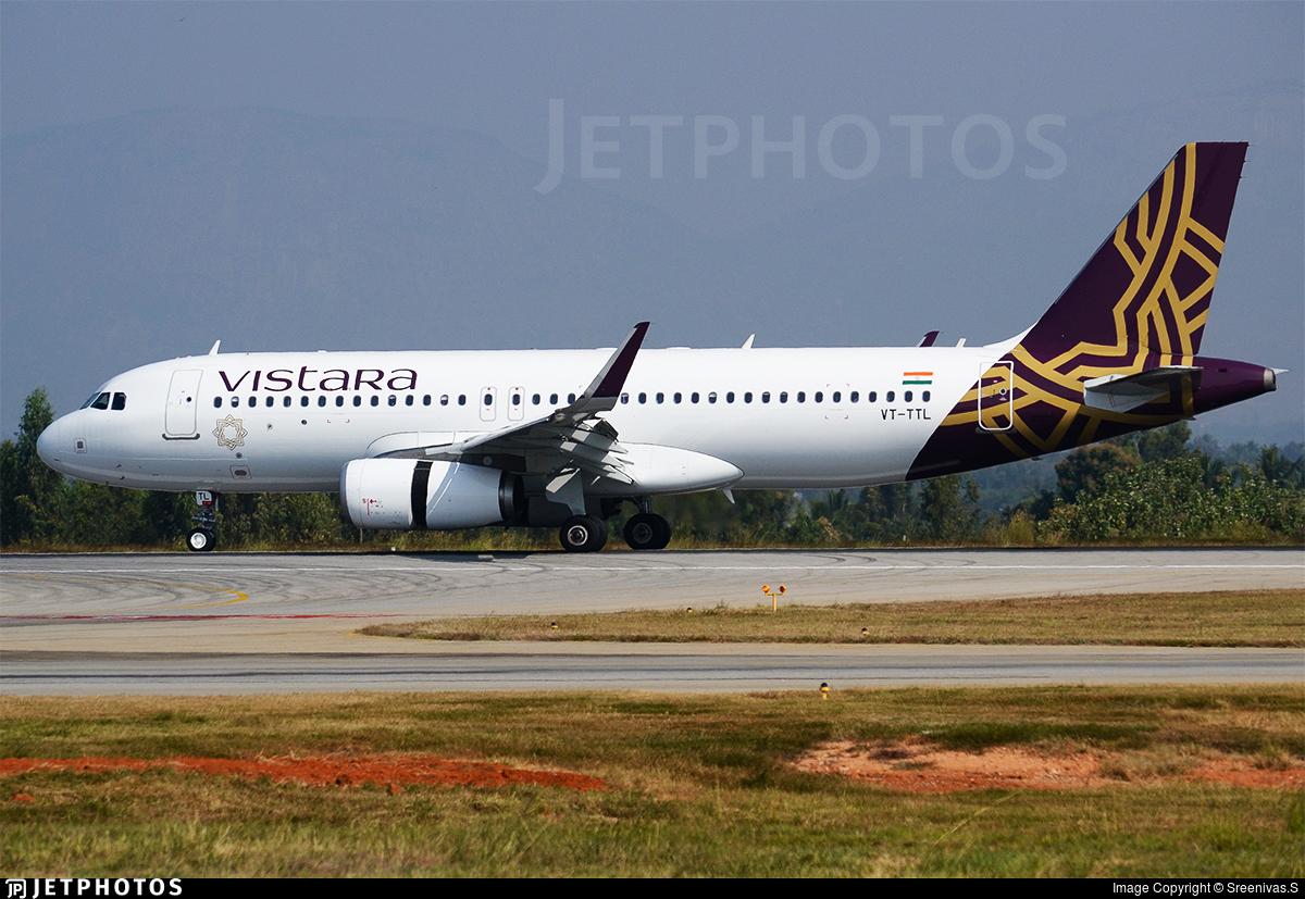 VT-TTL - Airbus A320-232 - Vistara
