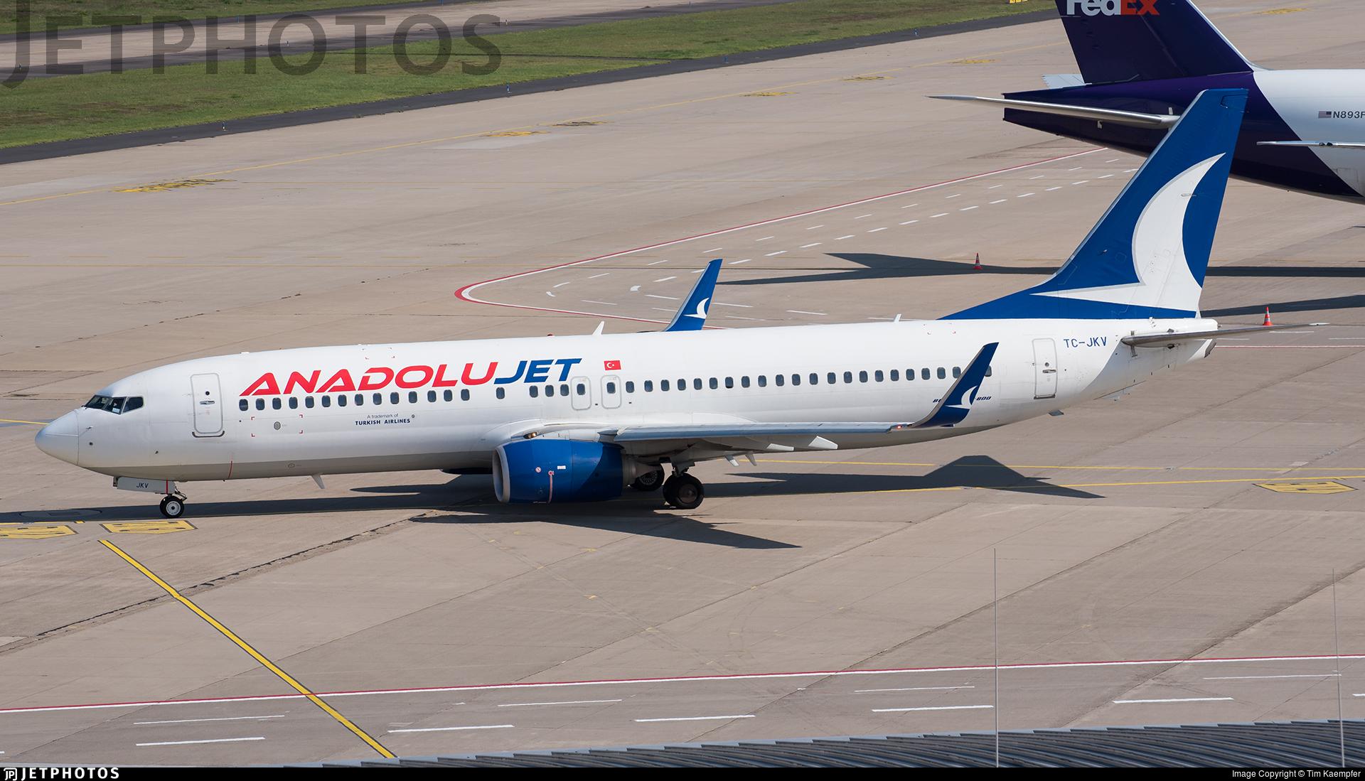 TC-JKV - Boeing 737-8Q8 - AnadoluJet