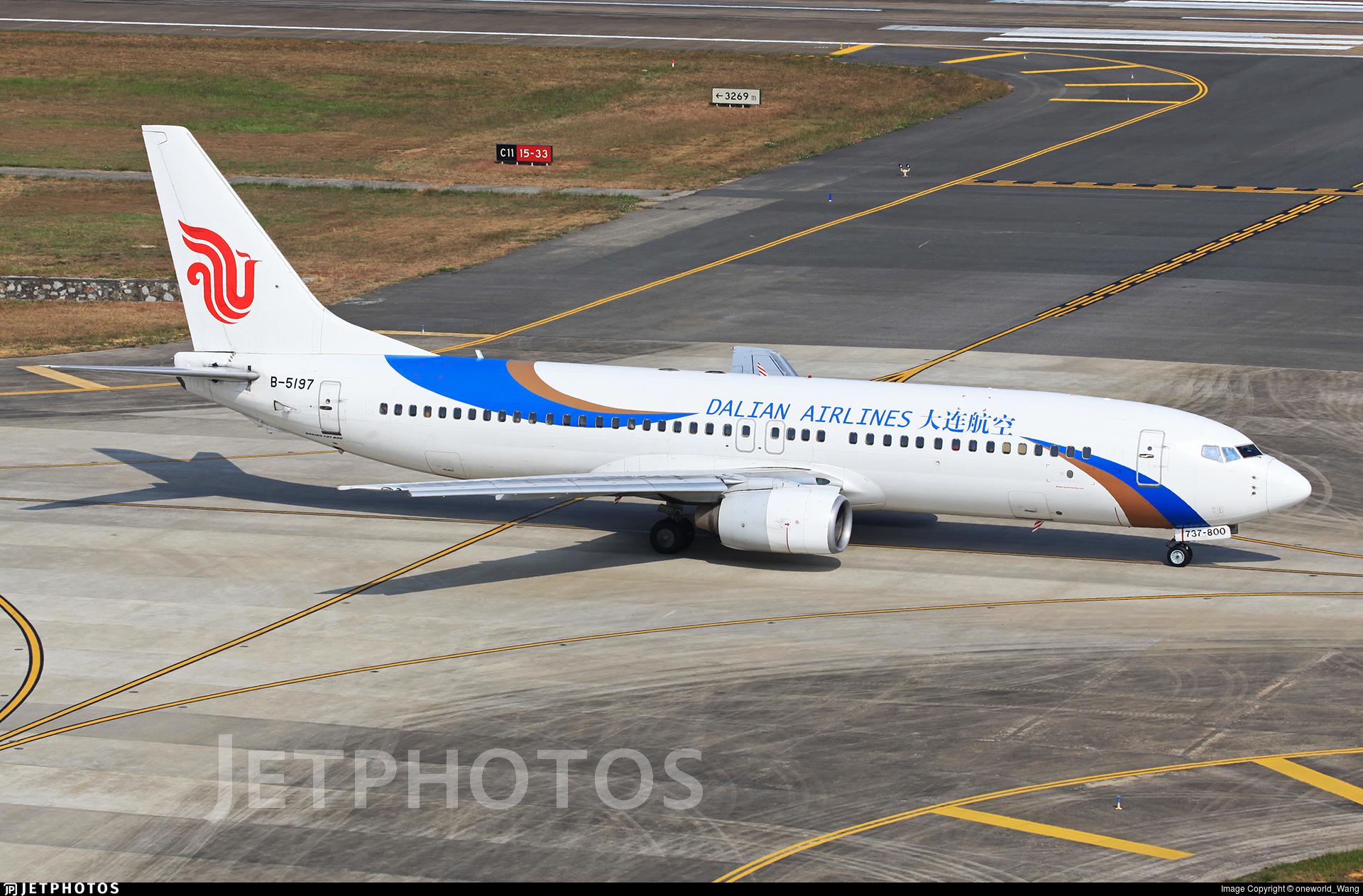 B-5197 - Boeing 737-86N - Dalian Airlines