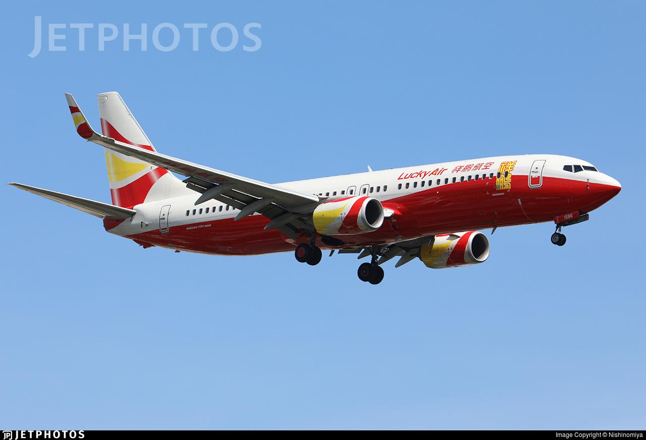 B-1586 - Boeing 737-8AL - Lucky Air