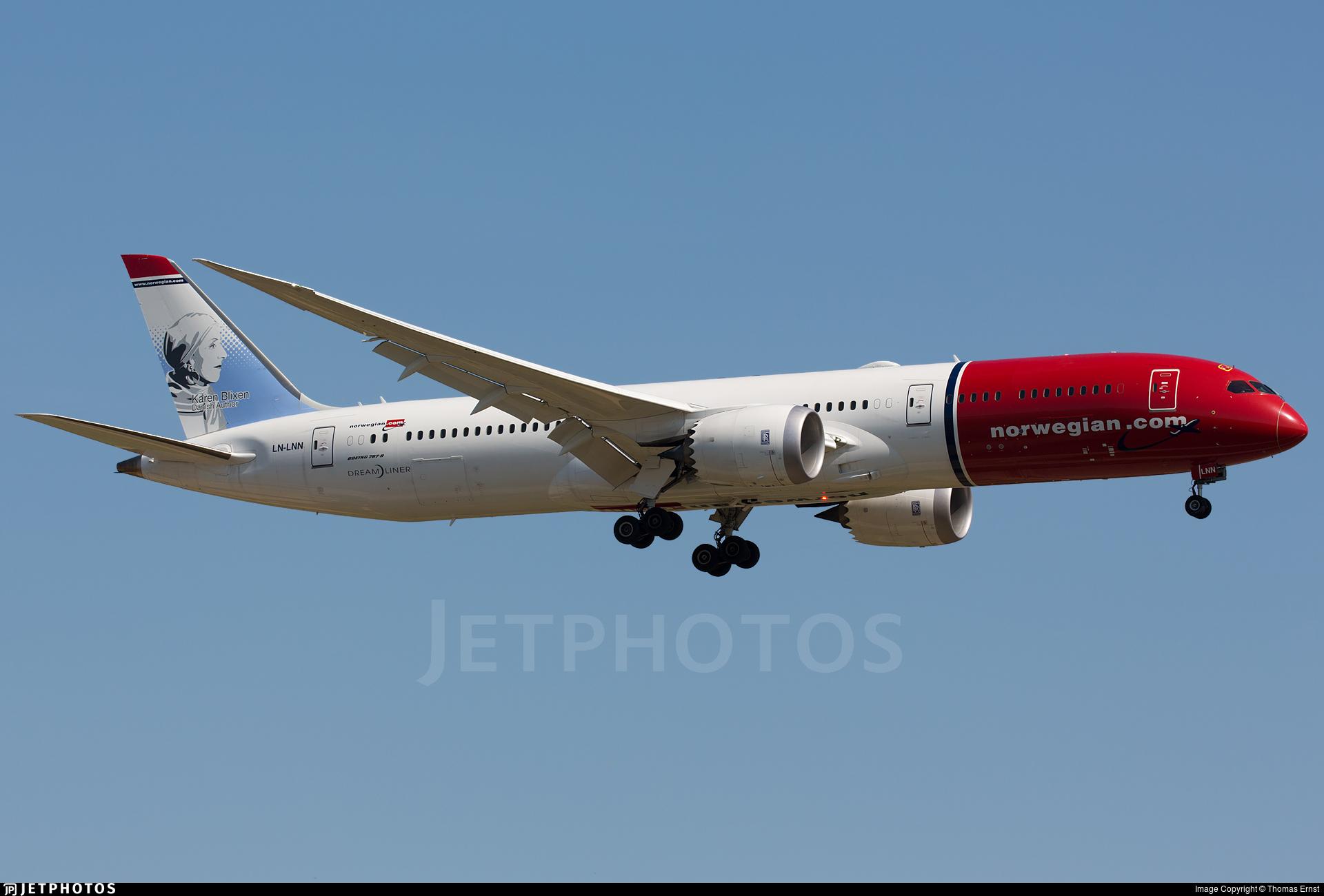 LN-LNN - Boeing 787-9 Dreamliner - Norwegian
