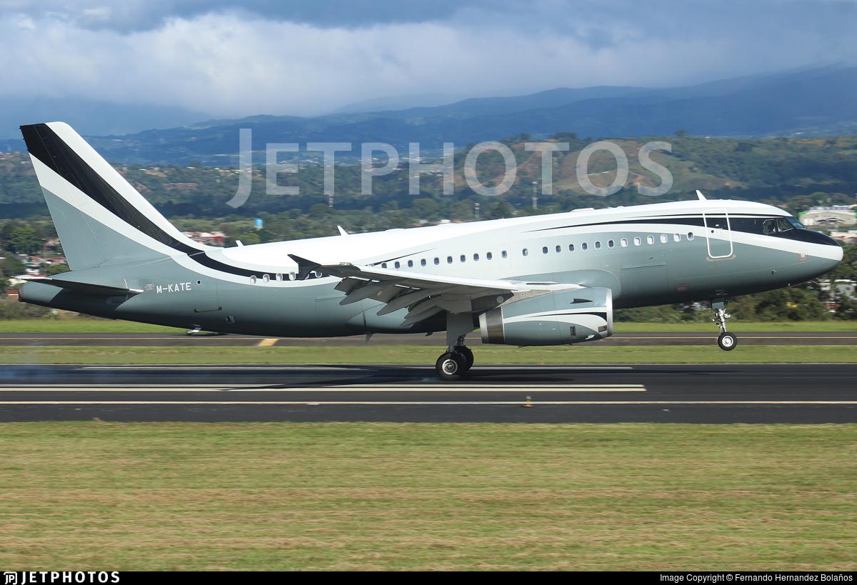 M-KATE - Airbus A319-133X(CJ) - Private