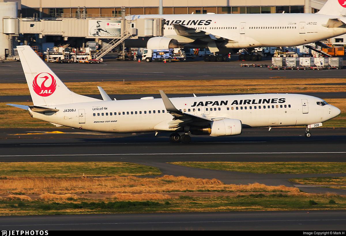 JA308J - Boeing 737-846 - Japan Airlines (JAL)
