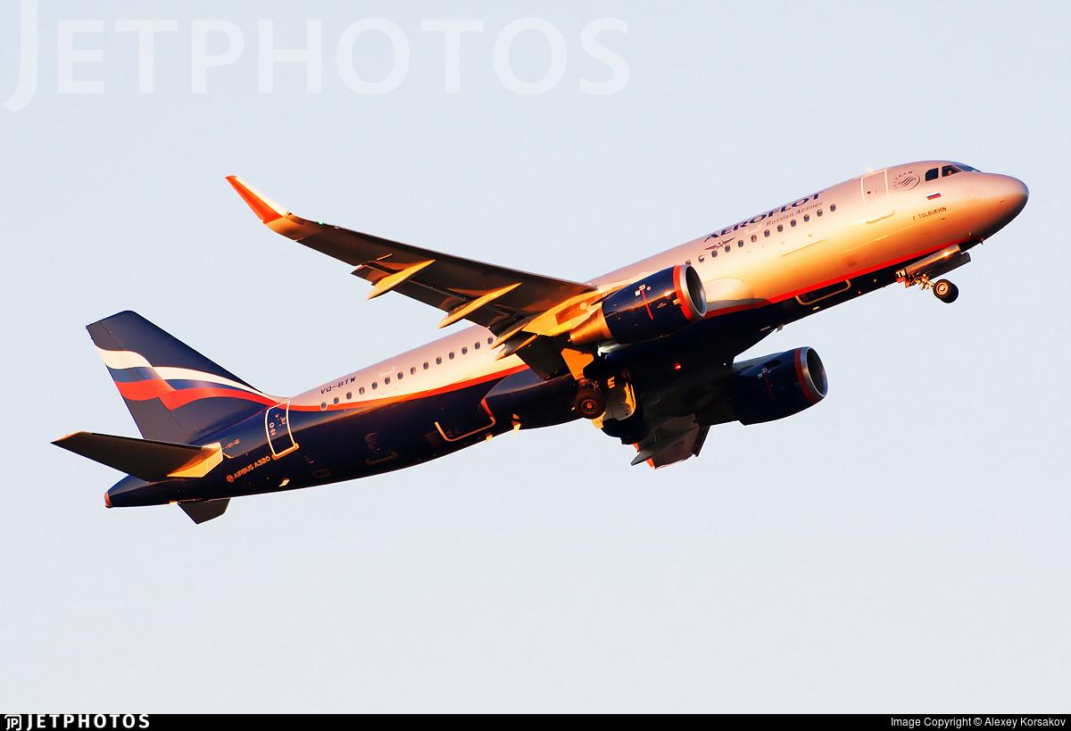 VQ-BTW - Airbus A320-214 - Aeroflot