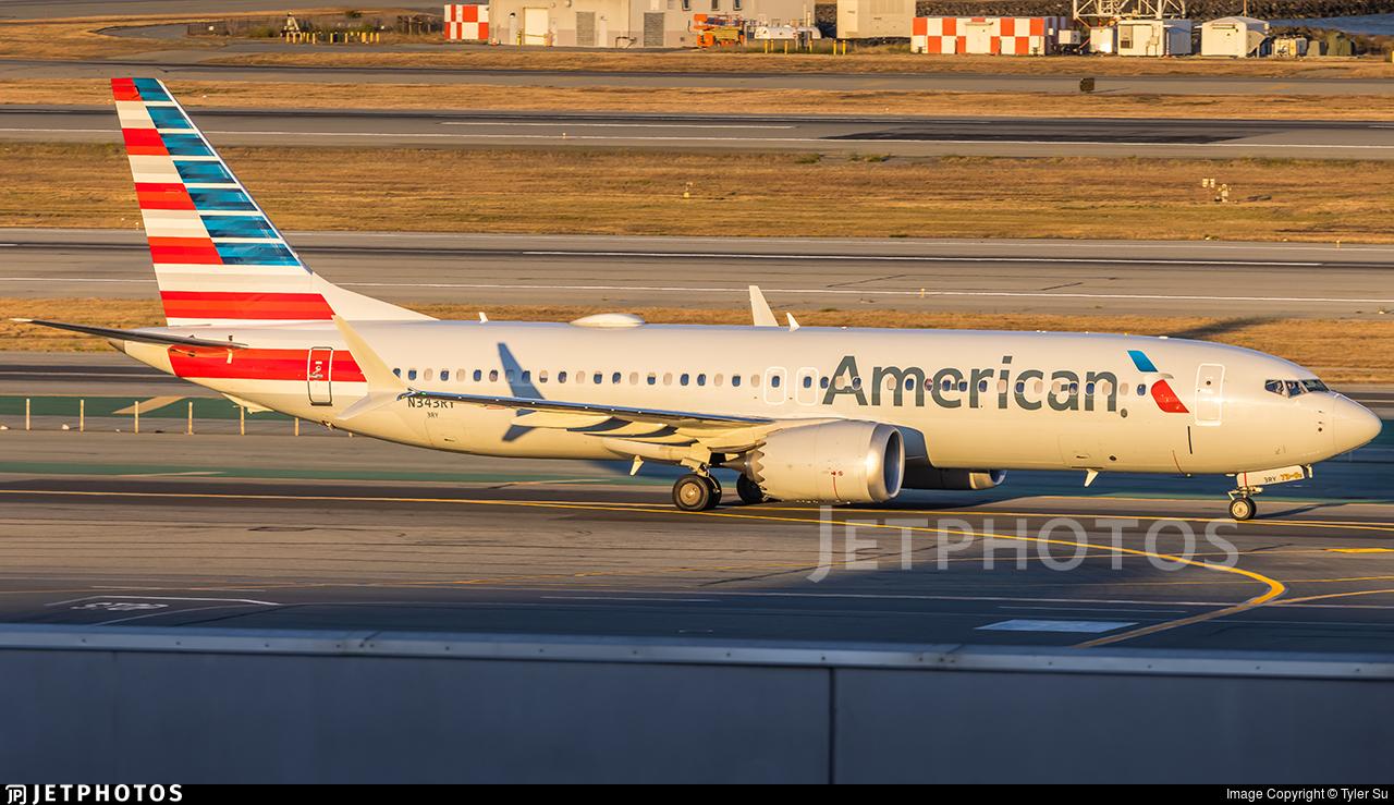N343RY - Boeing 737-8 MAX - American Airlines