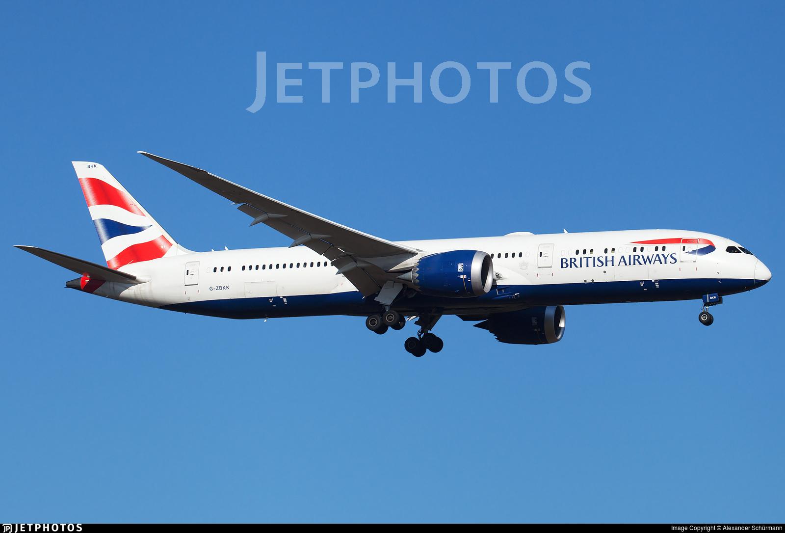 G-ZBKK - Boeing 787-9 Dreamliner - British Airways