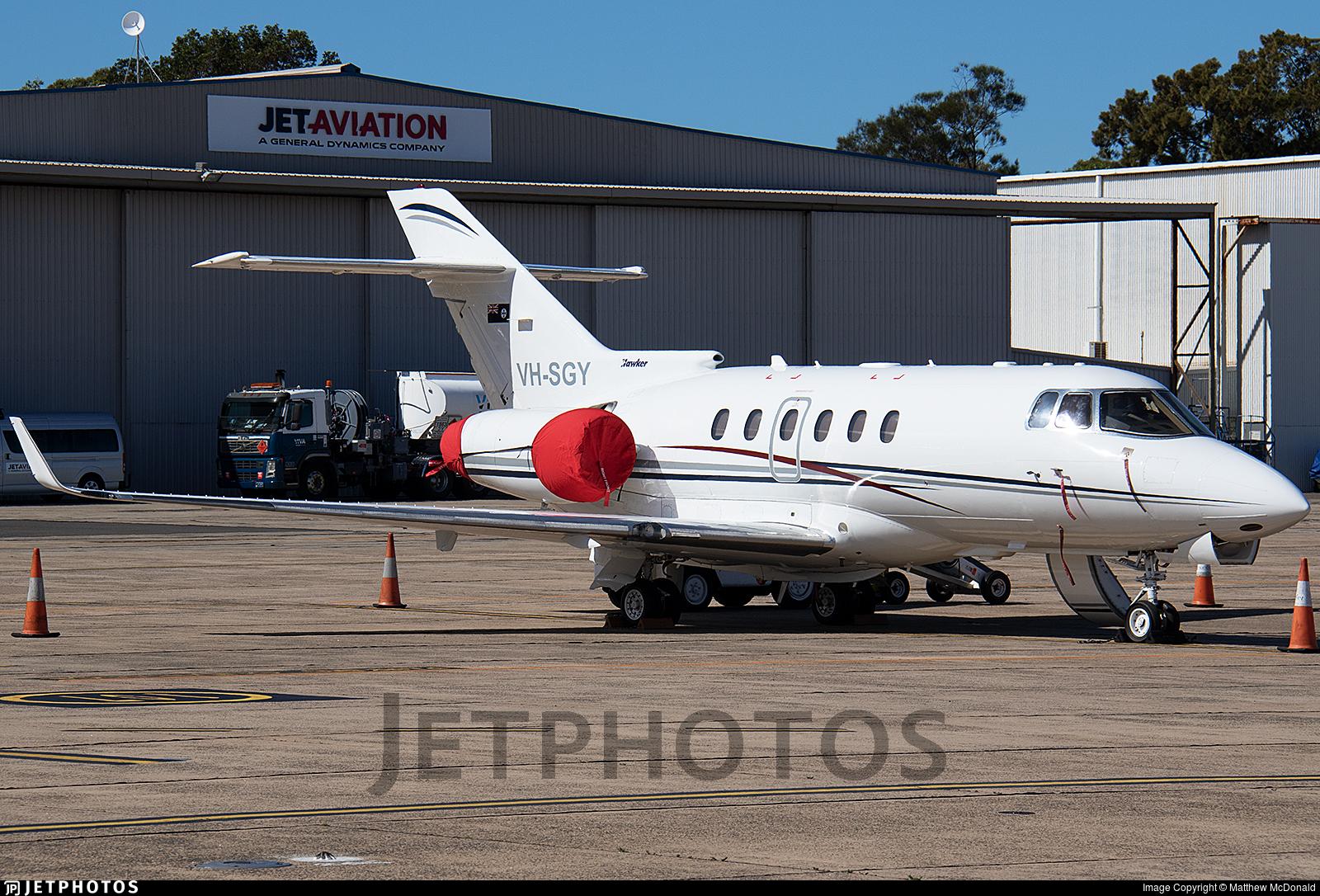 VH-SGY - Raytheon Hawker 850XP - Australia - Queensland Government