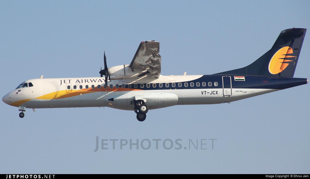 VT-JCX - ATR 72-212A(600) - Jet Airways