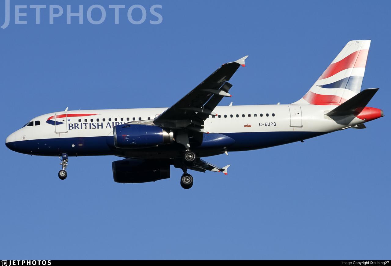 G-EUPG - Airbus A319-131 - British Airways