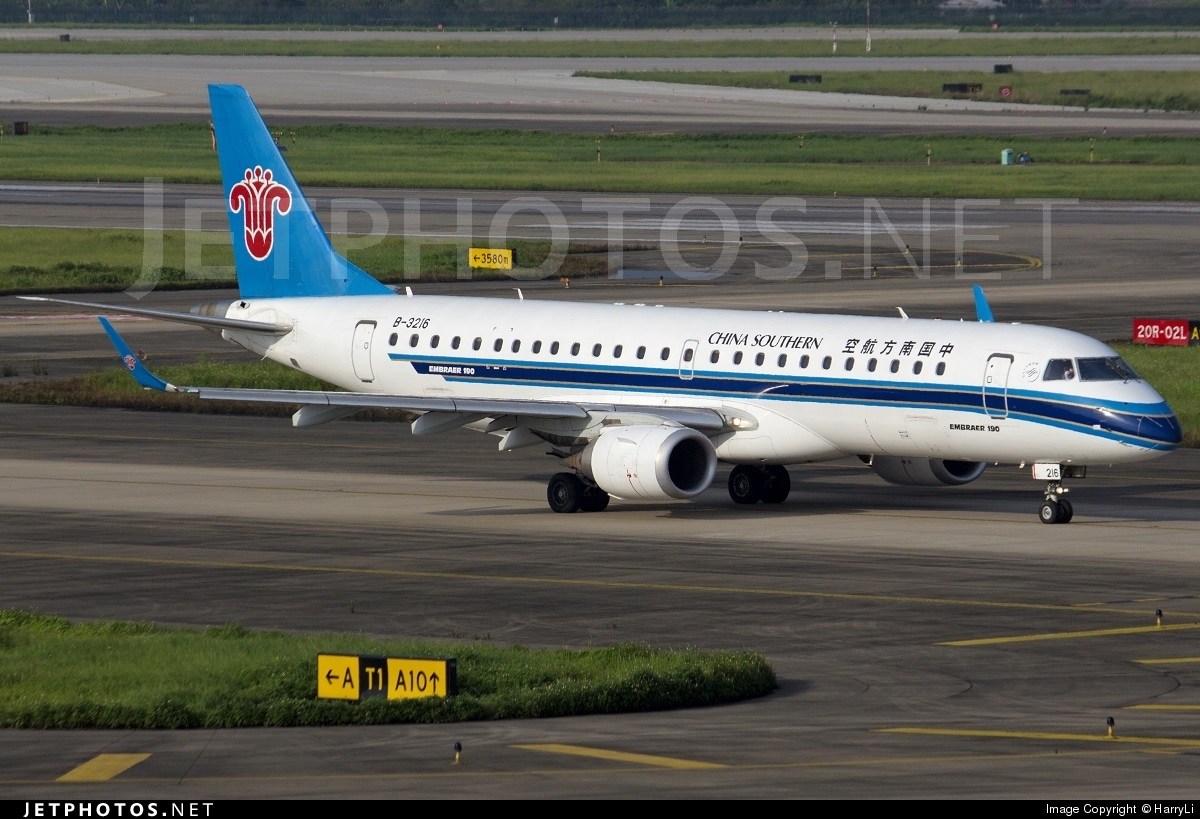 B 3216 embraer 190 100lr china southern airlines - China southern airlines hong kong office ...