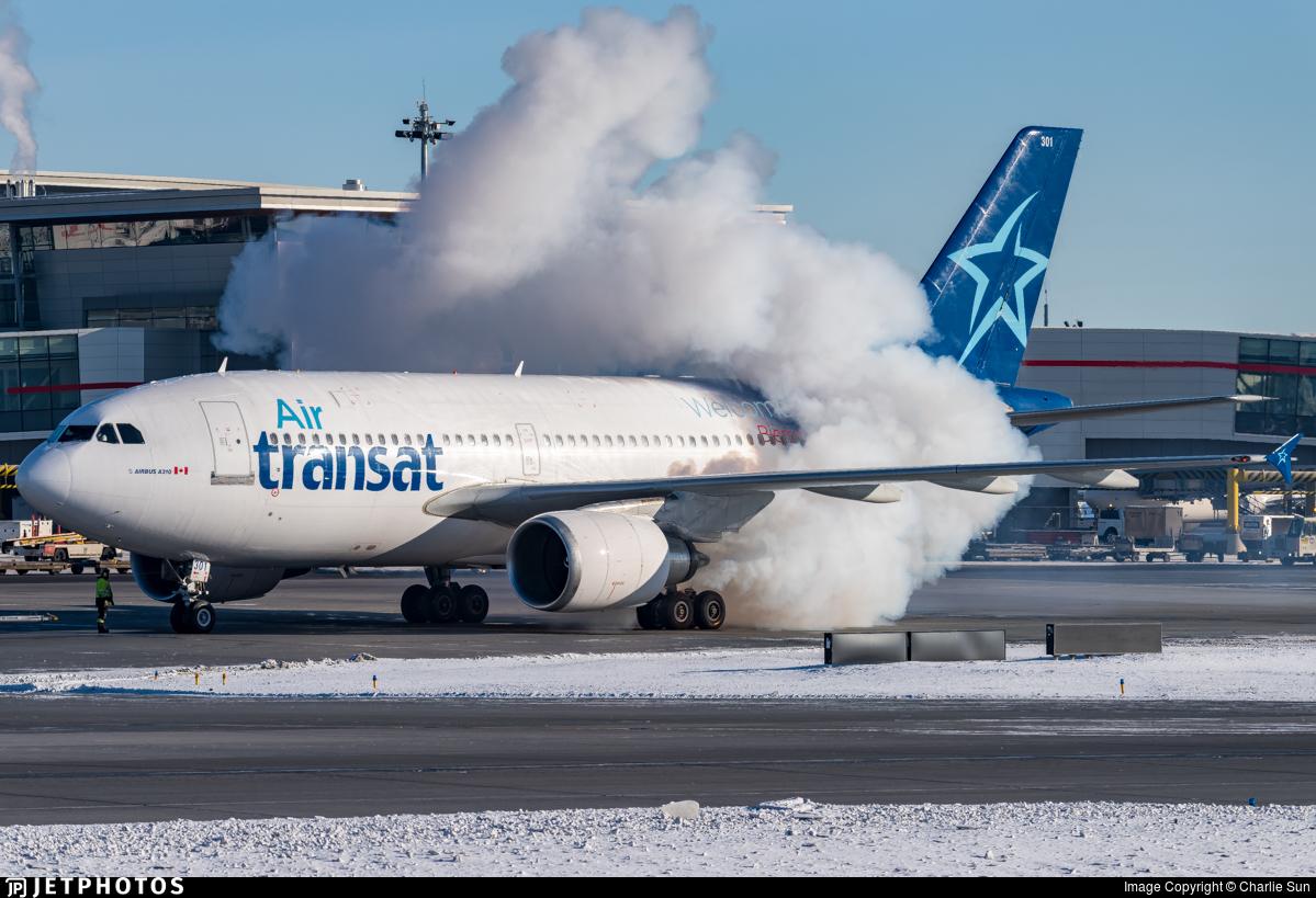 C Gfat Airbus A310 308 Air Transat Charlie Sun Jetphotos