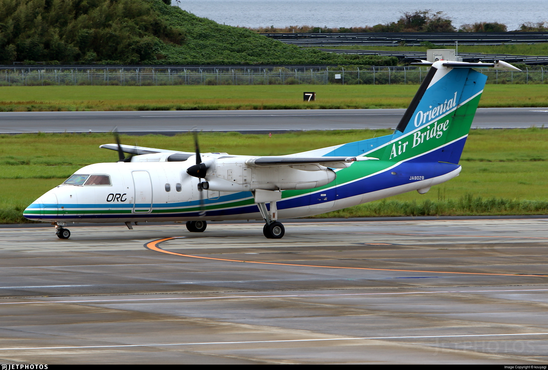 JA802B - Bombardier Dash 8-Q201 - Oriental Air Bridge