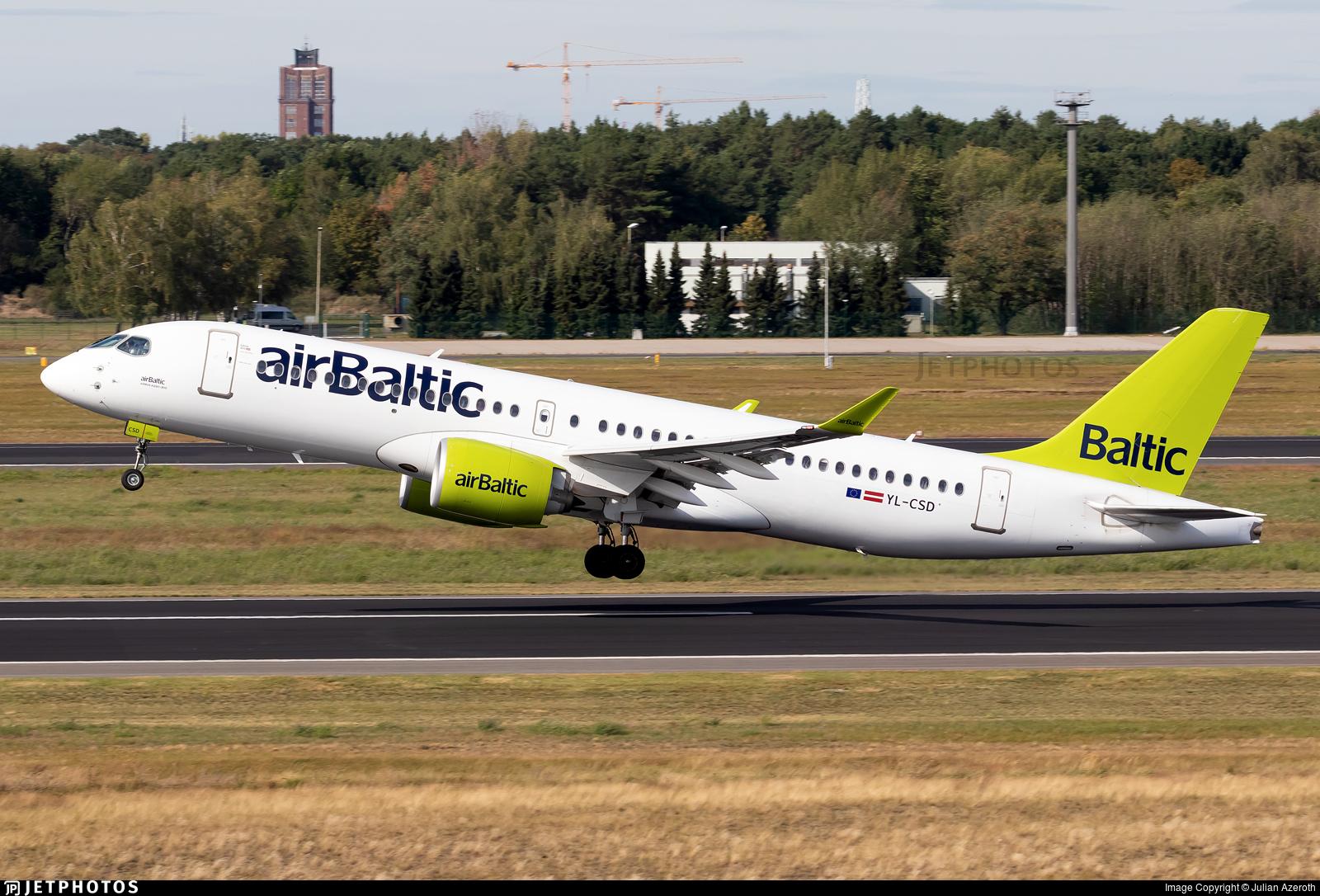 YL-CSD - Bombardier CSeries CS300 - Air Baltic