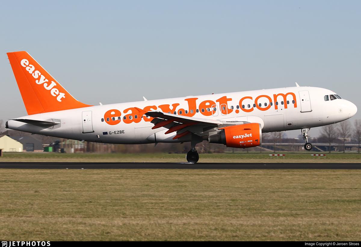 G-EZBE - Airbus A319-111 - easyJet