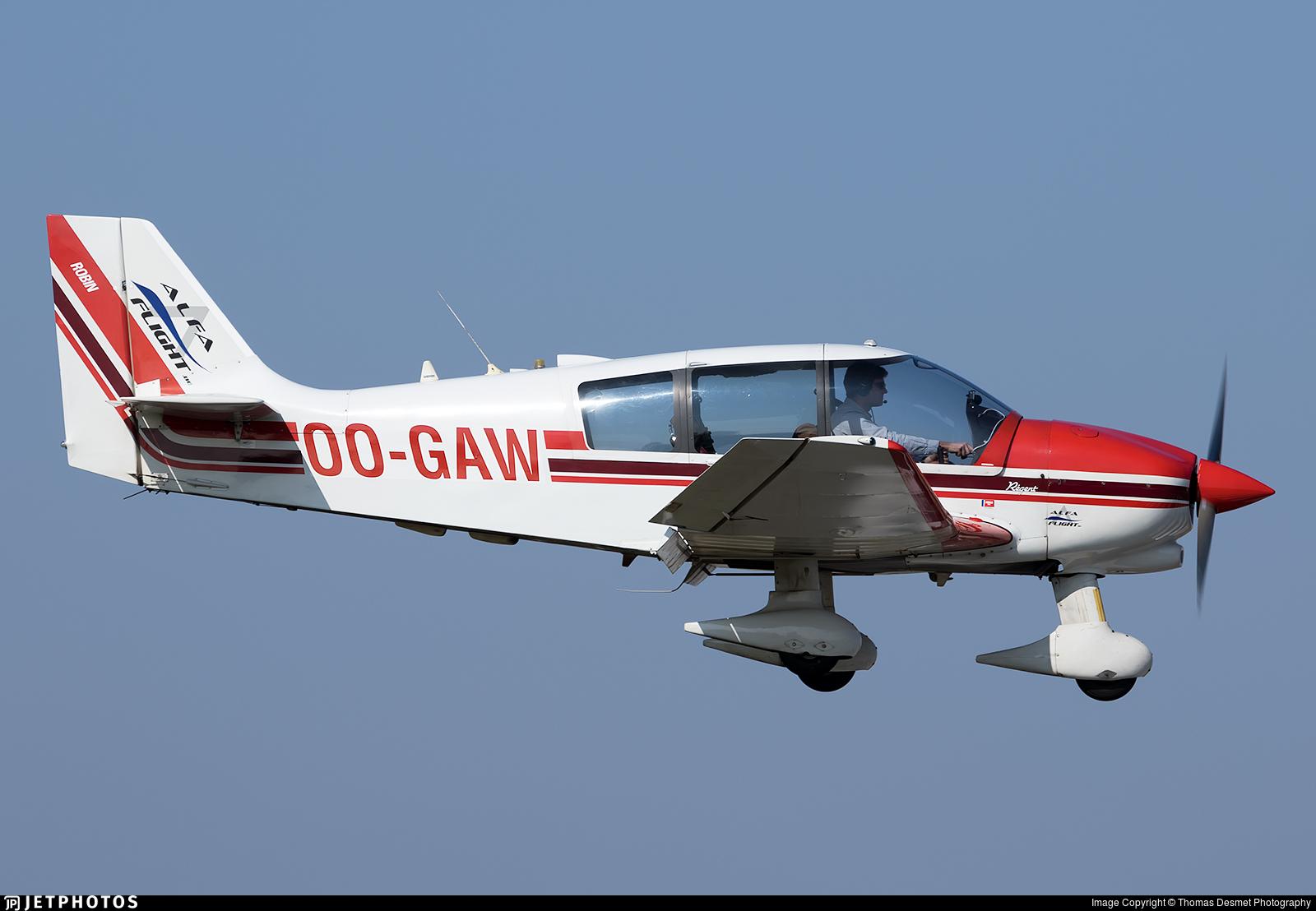 OO-GAW - Robin DR400/180 Régent - Alfa Flight