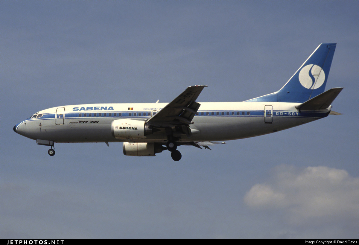OO-SDY - Boeing 737-329 - Sabena