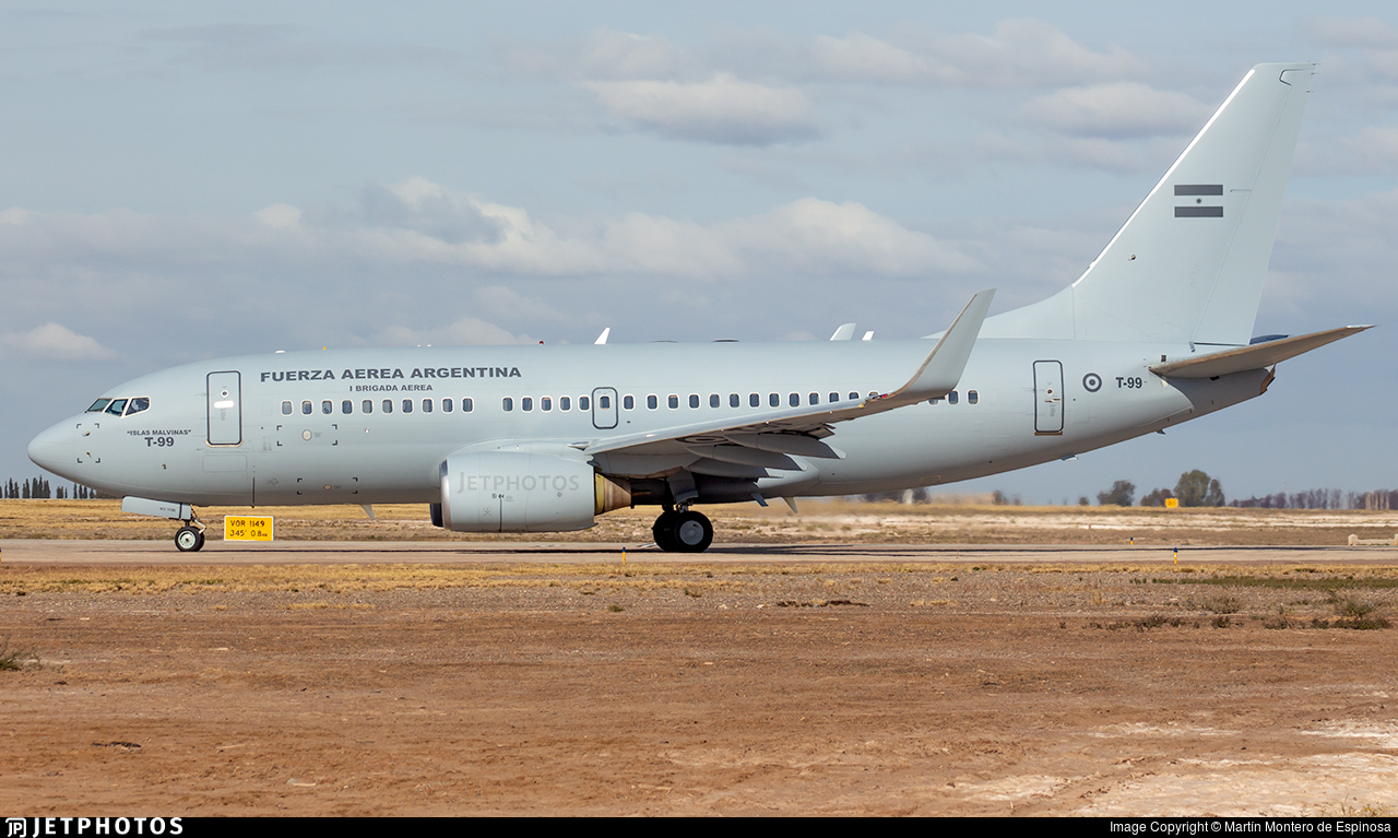 T-99 - Boeing 737-76N - Argentina - Air Force