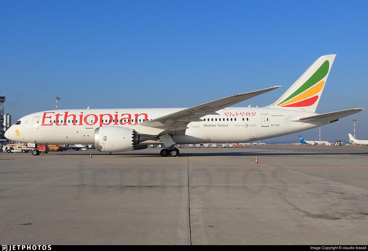 ET-ATI - Boeing 787-8 Dreamliner - Ethiopian Airlines