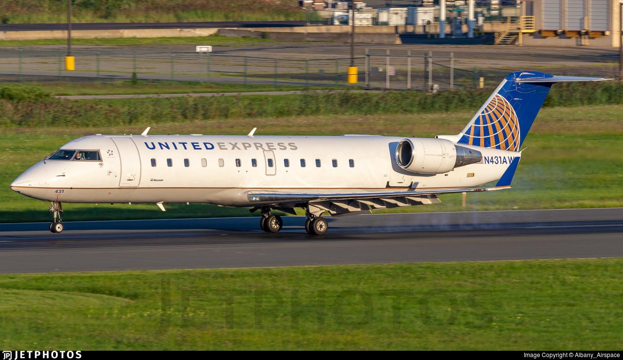 N431AW - Bombardier CRJ-200LR - United Express (Air Wisconsin)
