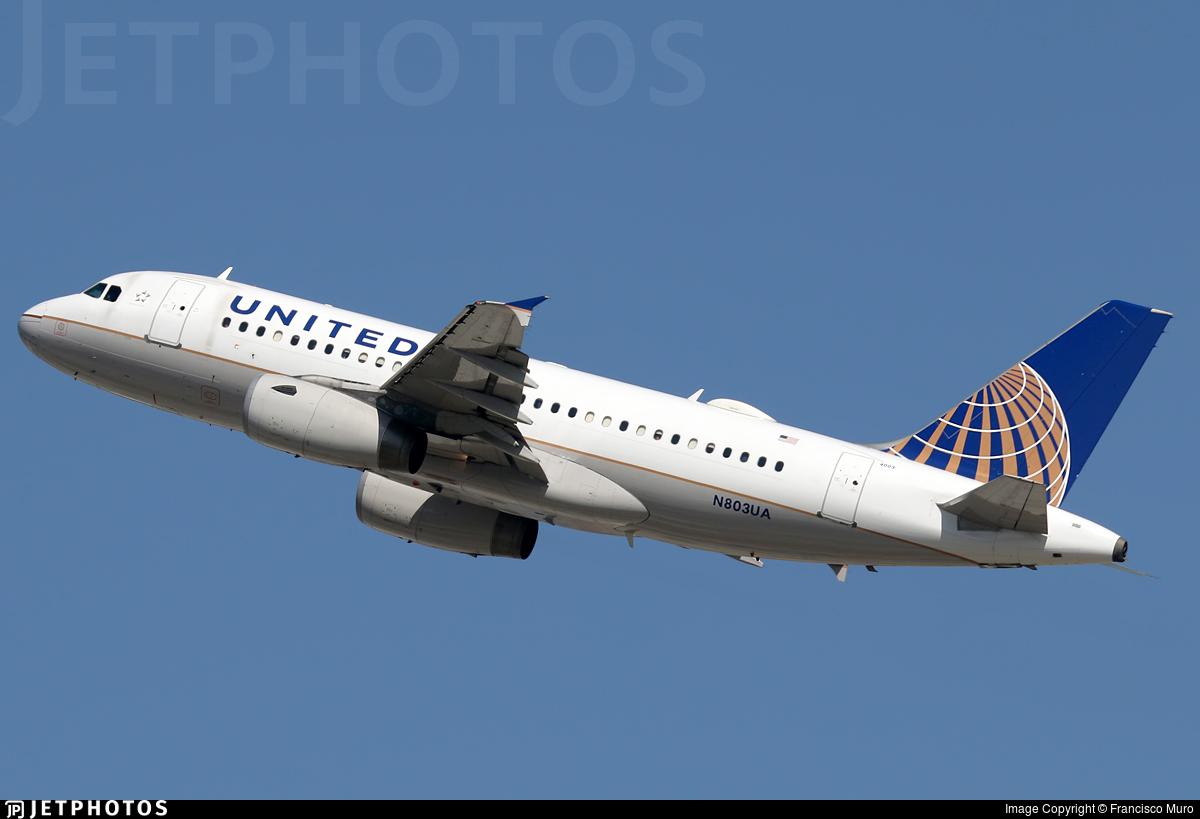 N803UA - Airbus A319-131 - United Airlines