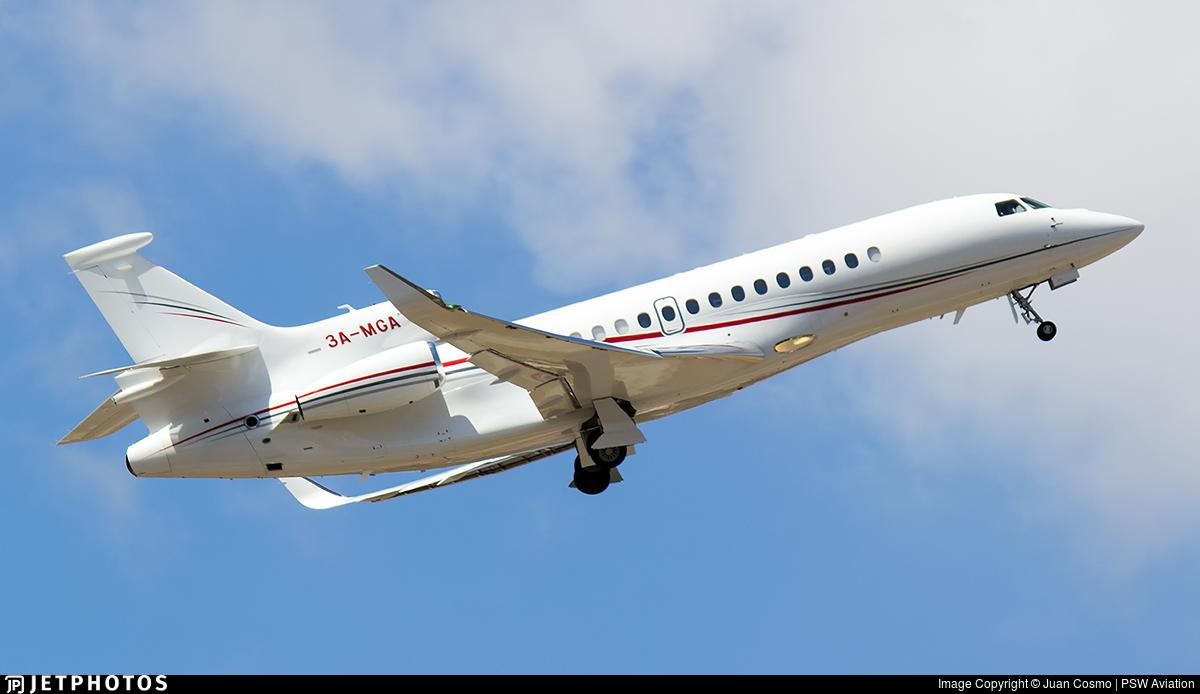 3A-MGA - Dassault Falcon 8X - Monaco - Government