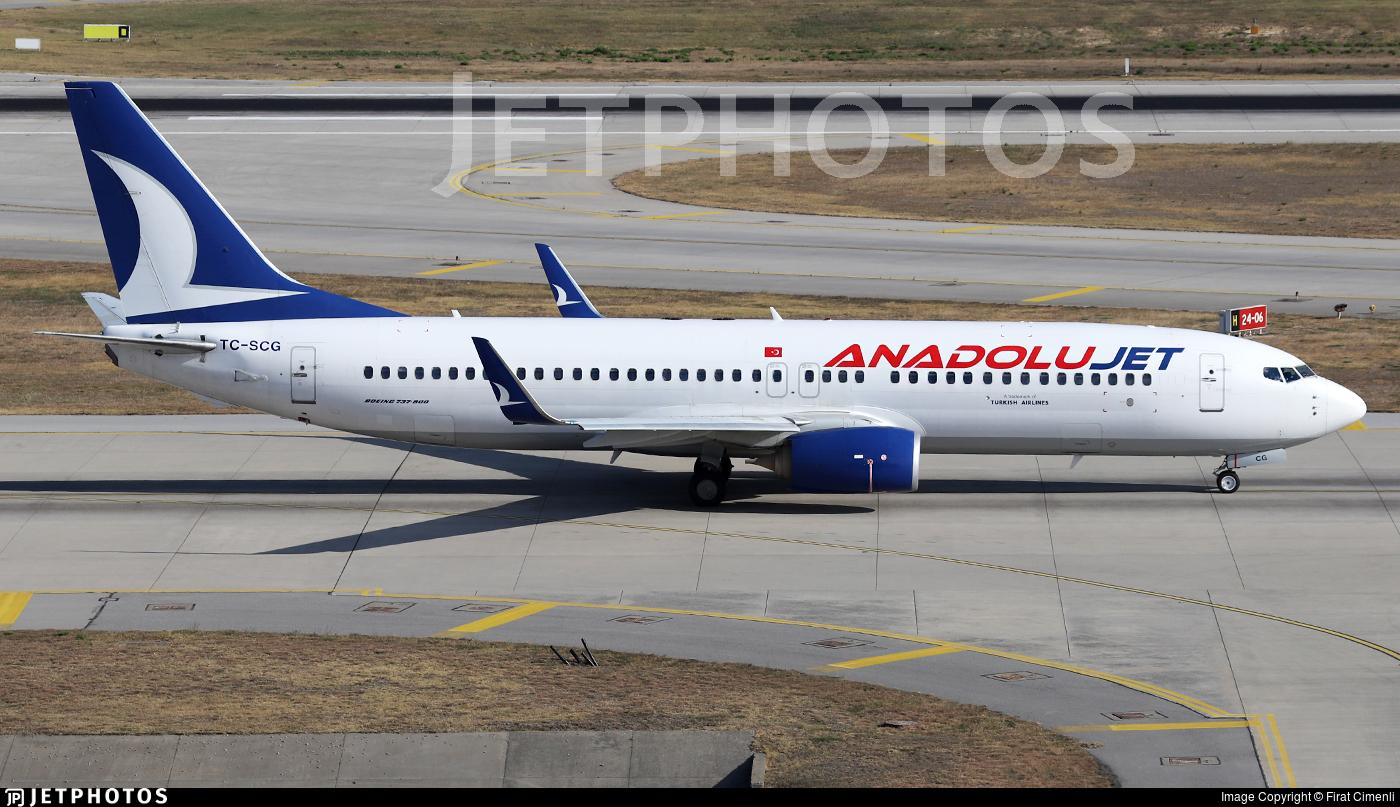TC-SCG - Boeing 737-8AL - AnadoluJet