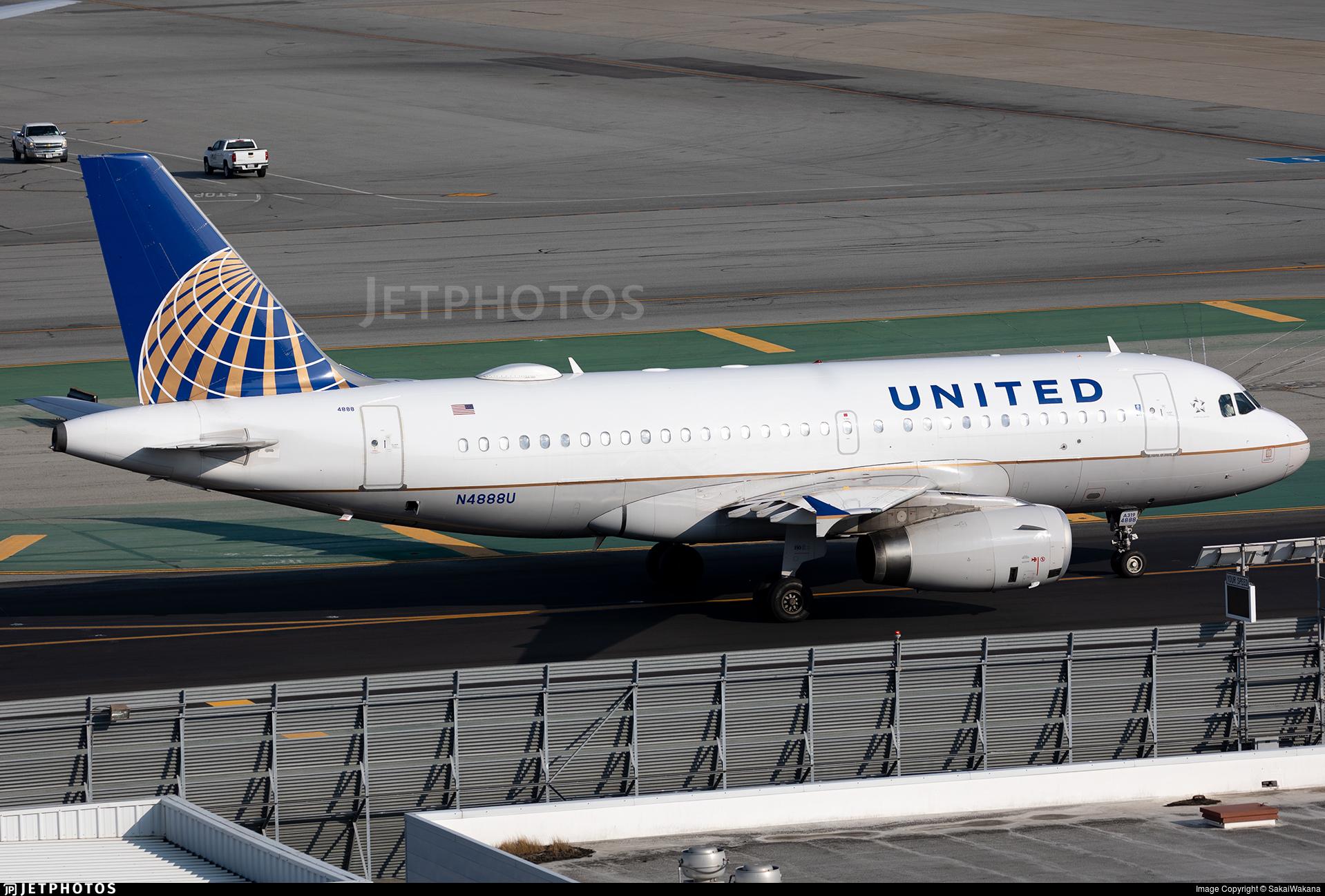 N4888U - Airbus A319-132 - United Airlines