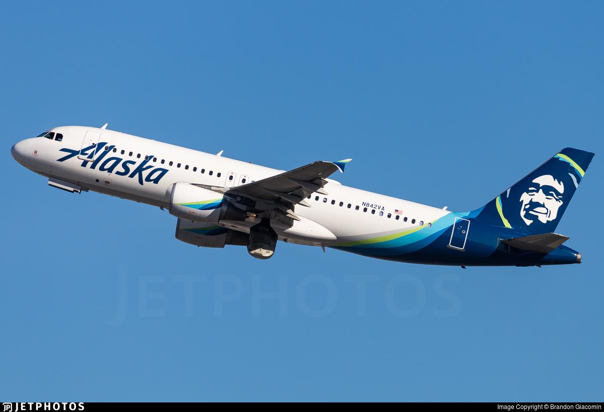 N842VA - Airbus A320-214 - Alaska Airlines