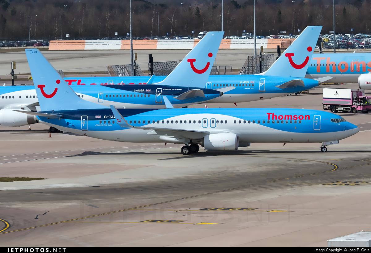 G-TAWO - Boeing 737-8K5 - Thomson Airways