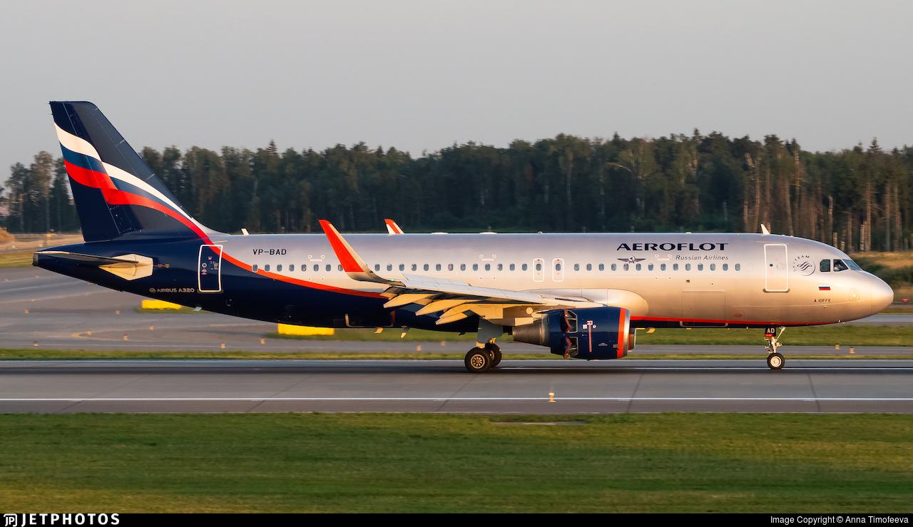 VP-BAD - Airbus A320-214 - Aeroflot