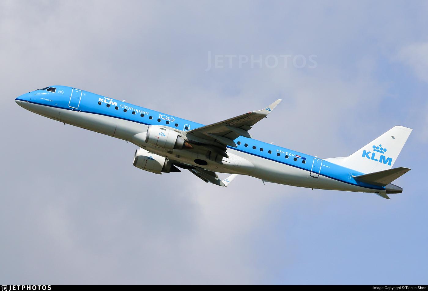 PH-EZV - Embraer 190-100STD - KLM Cityhopper