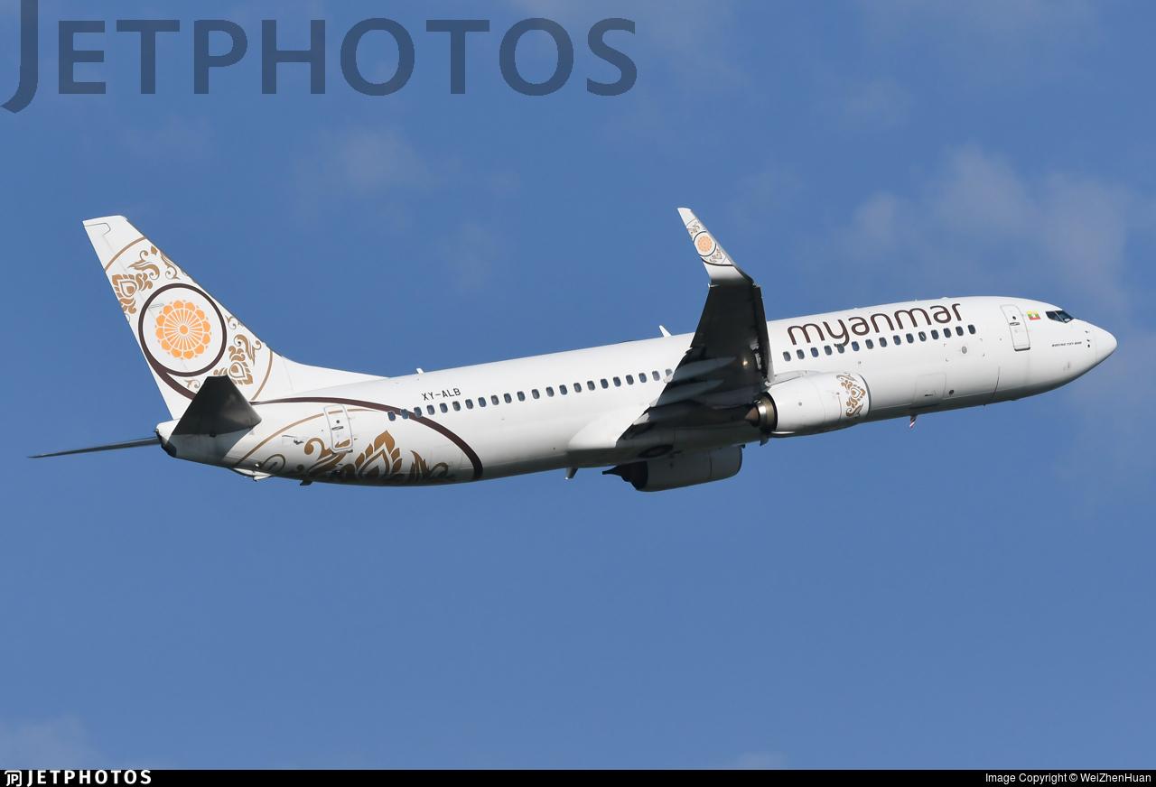 XY-ALB - Boeing 737-86N - Myanmar National Airlines